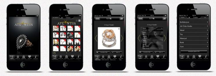 ATLANTIS Mücevher iPhone Uygulaması