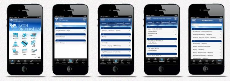 Üniversite iPhone Uygulaması
