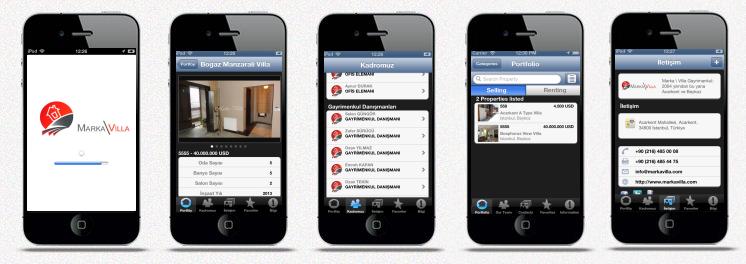 Marka\Villa iPhone ve iPad Emlak Uygulaması