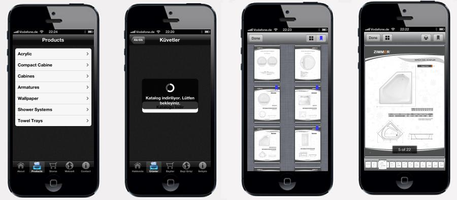 ZIMMER - Ürün Kataloğu iPhone ve iPad uygulaması